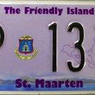 2014 St. Maarten License Plate (P 1317)