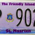 2014 St. Maarten License Plate (P 9024)