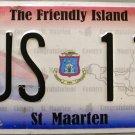 2011 St. Maarten Bus License Plate (BUS 116)