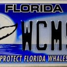 2013 Florida Protect Florida Whales License Plate (WCM9P)