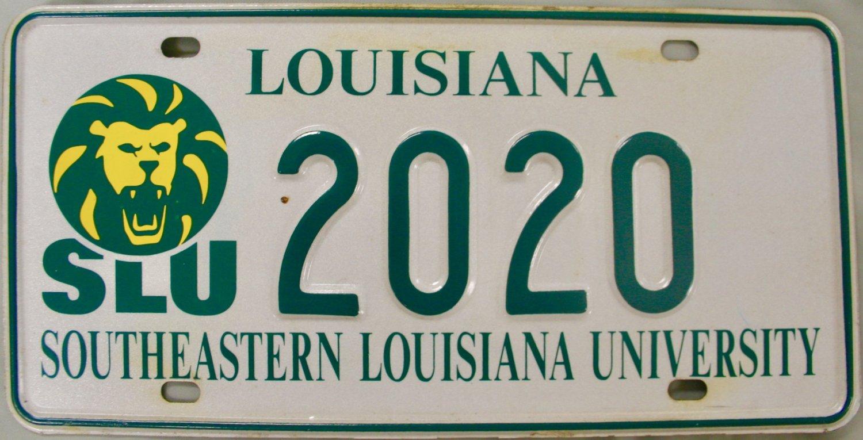 Louisiana Southeastern Louisiana University License Plate