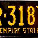 1960 New York License Plate (R-3187)