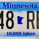 2016 Minnesota License Plate (648 REL)