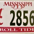 2016 Mississippi: University of Alabama License Plate (2856 CT)