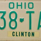 1989 Ohio License Plate (138 TAC)