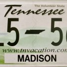 2016 Tennessee License Plate (V15 56N)