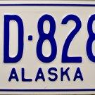 1962 Alaska License Plate (D-8287)