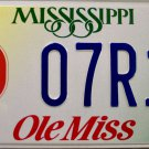 Mississippi: University of Mississippi (Ole Miss) License Plate (07R13)