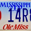 Mississippi: University of Mississippi (Ole Miss) License Plate (14R88)