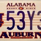 2010 Alabama: Auburn University License Plate (53Y3L)