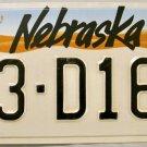 1991 Nebraska License Plate (53-D169)