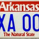 2001 Arkansas License Plate (XXA 005)