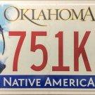 2015 Oklahoma License Plate (751KIN)