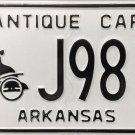 Arkansas Antique Car License Plate (J9810)