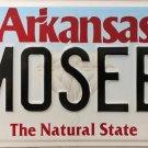 2007 Arkansas Vanity License Plate (FMOSEBY)