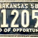 1958 Arkansas License Plate (6-12050)