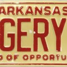 1978 Arkansas Vanity License Plate (GERY)