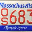 Massachusetts Olympic Spirit License Plate (OS 6838)