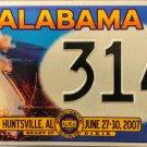 2007 Huntsville, Alabama ALPCA 53rd Convention License Plate (314)