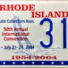 2004 Providence, Rhode Island ALPCA 50th Convention License Plate (314)