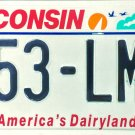 2007 Wisconsin License Plate (853-LMR)