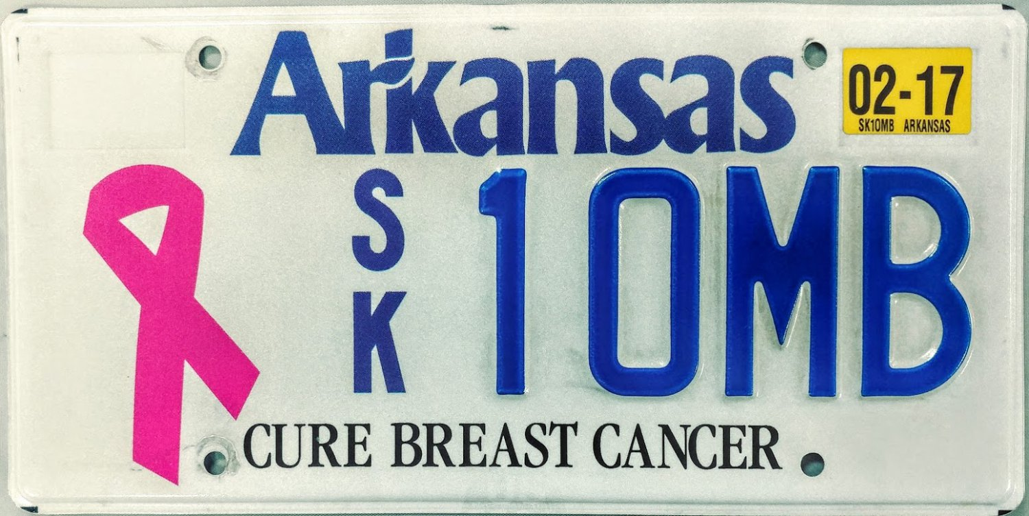 Book breast cancer plate