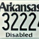 Arkansas Disabled License Plate (322247)