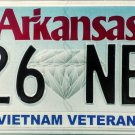 2017 Arkansas Vietnam Veteran License Plate (826 NBP)