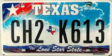 "Texas ""Big Star"" License Plate (CH2 K613)"