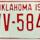1978 Oklahoma License Plate (CVV-5840)