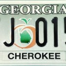 2008 Georgia License Plate (ATJ 0151)