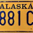 1986 Alaska License Plate (6881CA)