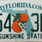 2014 Florida License Plate (X54 3HN)