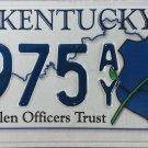 2013 Kentucky Fallen Officers Trust License Plate (8975 AY)