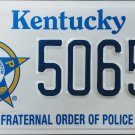 2012 Kentucky Fraternal Order Of Police License Plate (5065 DX)