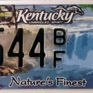 2011 Kentucky Nature's Finest License Plate (1544 BF)