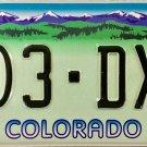 2002 Colorado Designer License Plate (903-DXR)