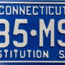 2001 Connecticut License Plate (885-MSA)