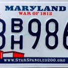 2016 Maryland License Plate (3BH9864)