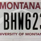University of Montana License Plate (BHW623)
