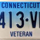 Connecticut Veteran License Plate (413-VBB)