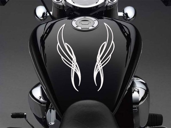 "7"" x 3.5"" - Two Pinstripes - Pick Color - Vinyl Decal Sticker (Design #5)"