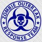 "3"" x 3"" - Zombie Outbreak Response Team - Pick Color - Vinyl Decal Sticker (Design #01)"