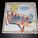 Jane Wooster Scott 3-D 2 Sided Jigsaw Puzzle Bi-Plane