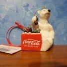 COCA COLA Coke BEARS Cooler  Christmas Ornament