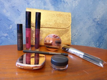 BareMinerals Spring Time Glow 7 Piece Set for Eyes Lips Face and Case