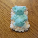 Pig in Bath Decorative Handmade Soap Green Orange