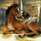 Riolis cross stitch kit Horse Foal and Puppy