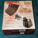 Black Buxton Over the Shoulder Organizer Genuine Leather