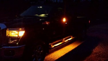 Running Board Led Light Kit For Super Cab/ Amber in Color/Custom made in USA